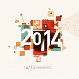 Fototapety 2014 colorful graphic design background