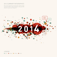 colorful 2014 infographics idea - graphic design background
