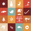christmas symbols & icons in vintage colours - set 1