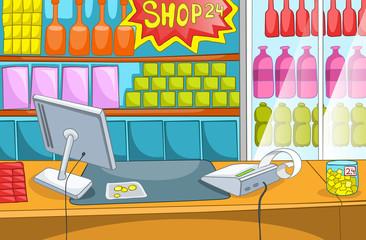 Supermarket Cartoon