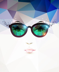 fashion woman with glasses