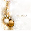 Christmas background with two Christmas baubles vector1321