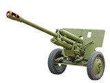 76-mm Russian division cannon gun from WWII.Isolated.