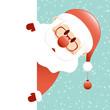 Santa Glasses & Beard Christmas Ball Banner Retro