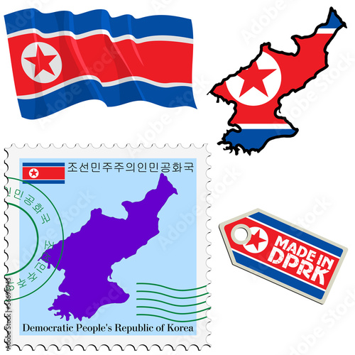 national colours of North Korea