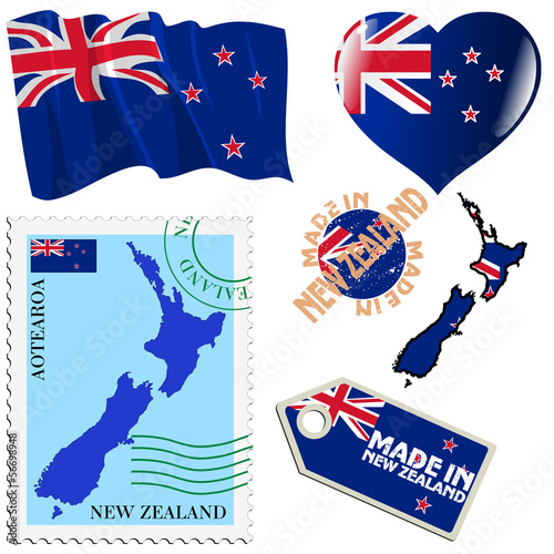 national colours of New Zealand