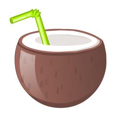 Coconut juice isolated illustration
