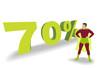 Silhouette 70%