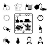 Icons set Cleaning