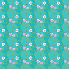 キッチュ花パターン