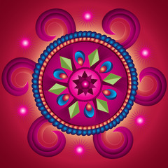 Mandala Wheel of Fortune