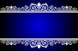 Vector blue and white frame