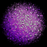 Vector purple disco lights background