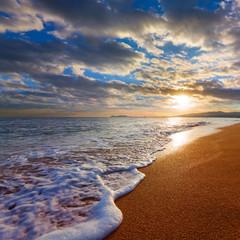 early morning sea beach