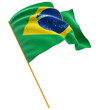 3D Brazilian flag (clipping path included)