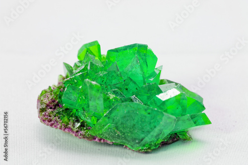 crystal macro photo in emerald color - 56702156