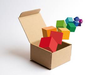 Cubi nella scatola