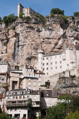 The village of Rocamadour in Midi-Pyrenees (France)