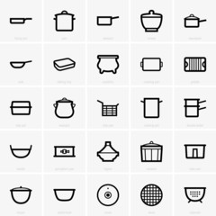 Set of Kitchenware icons
