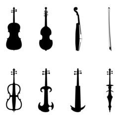 Set of violin icons