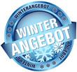 """Button Banner """"Winterangebot"""" blau"""