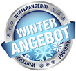 "Button Banner ""Winterangebot"" blau/silber"