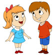 Cartoon cute happy kids