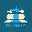Follow us thumb up!
