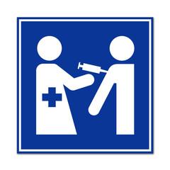 Caretl simbolo campaña de vacunacion