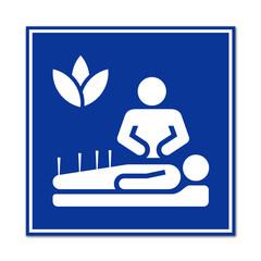 Cartel simbolo acupuntura
