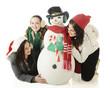 Friends Around the Snowman