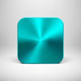 Technology App Icon with Cyan Metal Texture