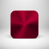 Technology App Icon with Maroon Metal Texture