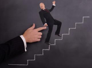 businessman push