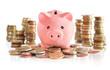 money saving on euro and money tower