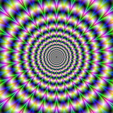 Psychedelic Pulse in Purple and Green - 56709557