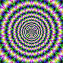 Psychedelic Pulse in Purple and Green