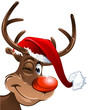 Christmas Rudolph with red nose