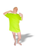 Man in Green, Yawning