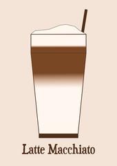 Karte - Latte Macchiato Glas
