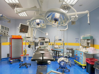 operating room view from above
