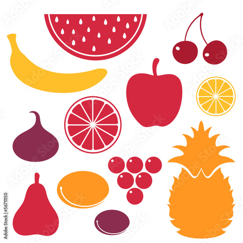 Fruits. Icon Set