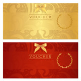 Voucher, Gift certificate, Coupon, Ticket. Filigree pattern poster