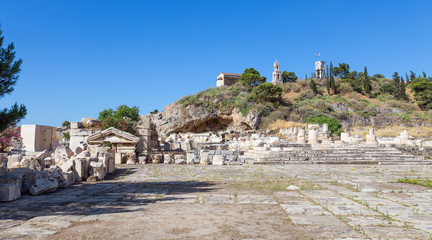 View of the archaeological site of Eleusis, Attica, Greece
