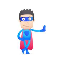 superhero in various poses