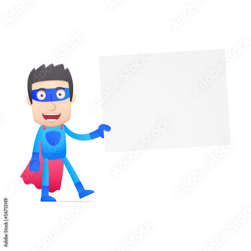 superhero in various poses