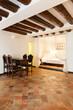 Beautiful apartment classic, interior, terracotta floor