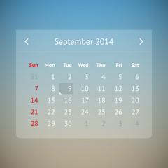 Calendar page for September 2014