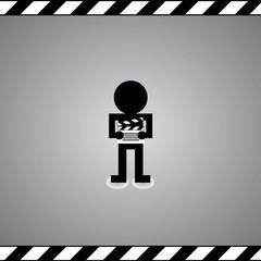 man and slate film symbol
