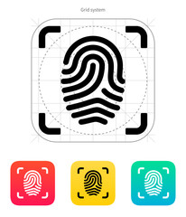 Scanning finger icon.